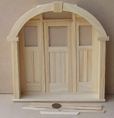 1:12 Scale External Wooden Porch Door & Frame Dolls House Miniature Accessory 49