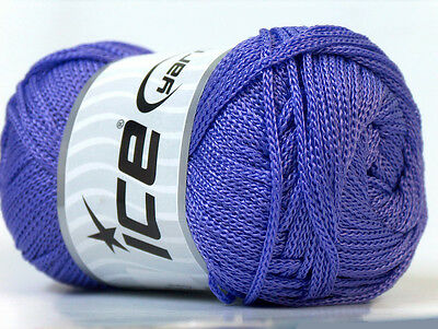 Lot of 4 x 100gr Skeins Ice Yarns MACRAME CORD Knitting Wool Lavender