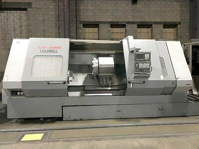 """2006 Leadwell LTC-50BL CNC Turning Center with 18"""" Chuck, 80"""" Centers, Fanuc CNC"""