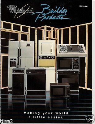1986 WHIRLPOOL Appliance Catalog RETRO KITCHENS Refrigerator Range Washer Dryer