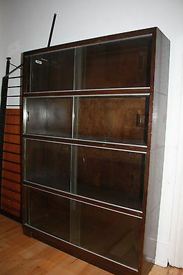 Vintage Minty Oxford 4 Section Barrister Bookcase St.albans