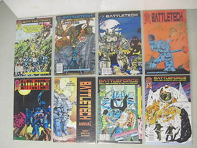 Lot Of 8 Battletech #1-5 Annual 1 & The Hungry Dogs #1 & 2 Fasa Blackthorne