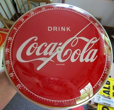 """1950s-60s COCA-COLA """"PAM-Style"""" THERMOMETER...""""DRINK""""....NICE!"""