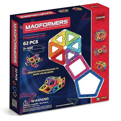 Magformers 62 Piece Set - GENUINE AUS STOCK
