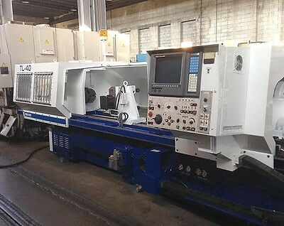 Mori Seiki TL-40 Long Bed CNC Turning Center Lathe with Hydraulic Steady Rest