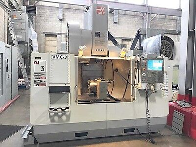 Haas VF-3YT/50 CNC Vertical Machining Center with Full 4th Axis Rotary Table