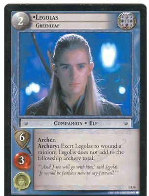 Lord Of The Rings CCG FotR Card 1.R50 Legolas Greenleaf