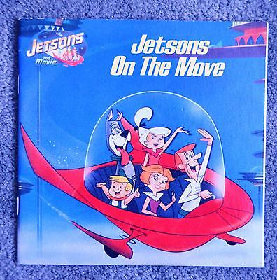 Vintage softcover Book Hanna Barbera JETSONS ON THE MOVE Movie Story Book 1990