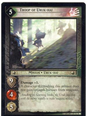 Lord Of The Rings CCG FotR Card 1.R143 Troop Of The Uruk Hai
