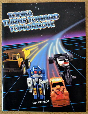 Vintage Tonka 1984 Toy Fair Toy Catalog Trucks Cars Mighty Cycles, Gobots