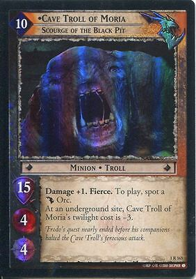 Lord Of The Rings CCG FotR Foil Card 1.R165 Cave Troll Of Moria Scourge Of The