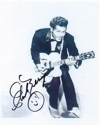 Chuck Berry-Hand Signed 8x10 Black & White Photograph