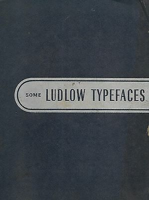 1950s-60s Ludlow Type Font Specimen Book or Catalog, including holiday dingbats