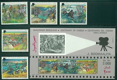 Somalia Michel #559-563 BLK35  MNH Cinema Motion Pictures Centenary $$