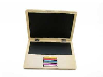 Kaper Kidz Wooden Wooden Notebook Laptop Blackboard Brand New