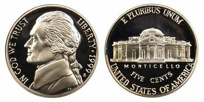 1999 S GEM BU PROOF JEFFERSON NICKEL 5 Cent BRILLIANT UNCIRCULATED US COIN#667