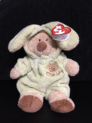 """BABY TY Love To Baby Bear GREEN Removable PJs 2005 8"""" BRAND NEW FREE SHIPPING"""