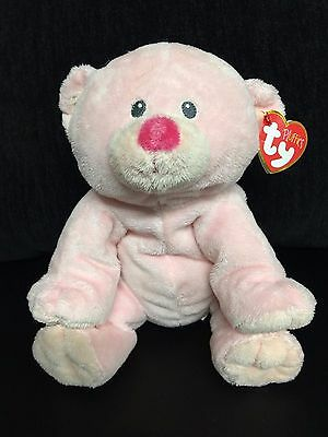 NEW Ty Pluffies 2010 BABY WOODS PINK BEAR Plush FREE SHIPPING!