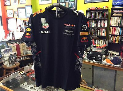 Red Bull 2017 Racing Drivers Puma T-Shirt Official Merchandise Size Large