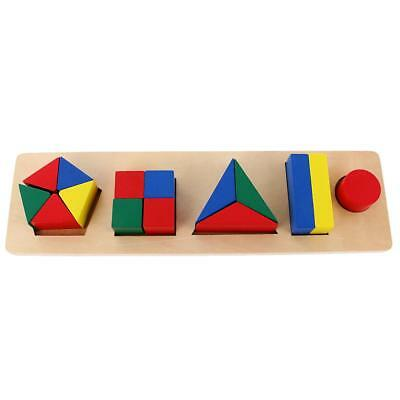 Kids Montessori Material Early Learning Educational Toys - Geometry Blocks