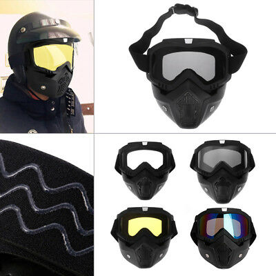 1Pc Motocross Goggles Face Glasses Dust Mask With Detachable Motorcycle Glasses