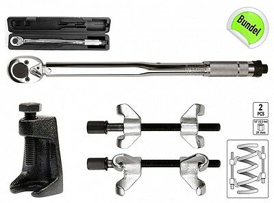 3 Pc Torque Wrench Spring Compressor Tie Rod Puller Tool Set