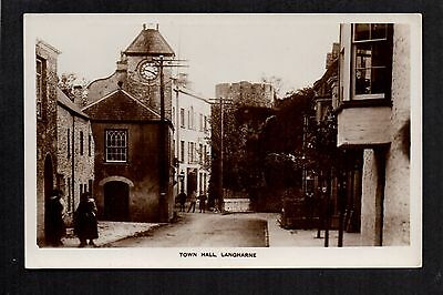 Langharne Town Hall - real photographic postcard