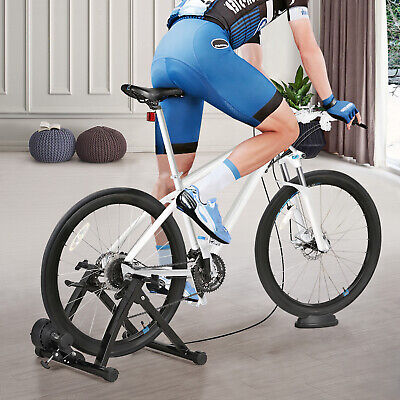 Foldable Magnetic Indoor Turbo Trainer 8 Level Resistance Road Bike Training UK