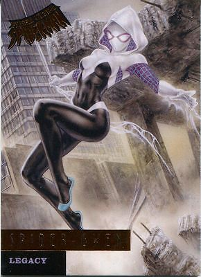 Spiderman Fleer Ultra 2017 Legacy Chase Card L12 Spider Gwen