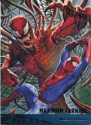 Spiderman Fleer Ultra 2017 Milestones Silver Web Chase Card M-7 Maximum Carnage