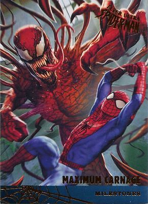 Spiderman Fleer Ultra 2017 Milestones Chase Card M-7 Maximum Carnage