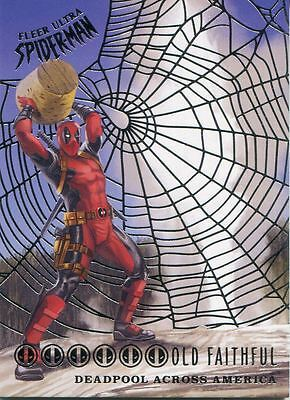 Spiderman Fleer Ultra 2017 Deadpool Across America Silver Web Chase Card DA10 Ol
