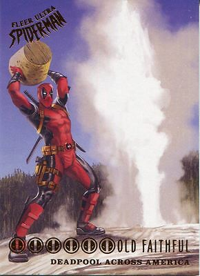 Spiderman Fleer Ultra 2017 Deadpool Across America Chase Card DA10 Old Faithful