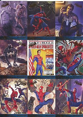 Spiderman Fleer Ultra 2017 Complete Milestones Chase Card Set M1-M12