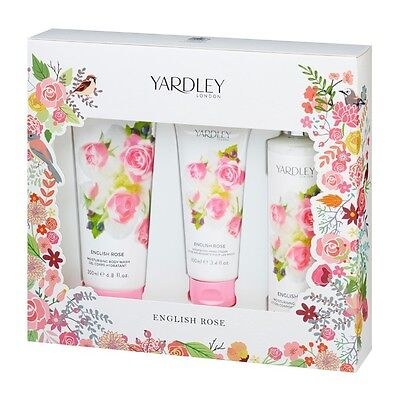 Yardley English Rose Bath & Body Collection (Body Wash, Body Lotion, Hand Cream)