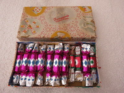 Vintage Boxed Sharps Fancy Goods Christmas Crackers