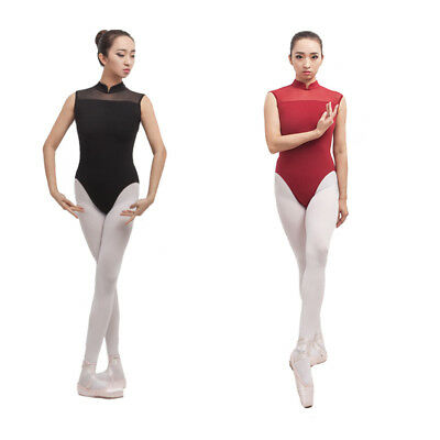 Adult Girl Woman Ballet Dance Leotard Gymnastic Sleeveless Cotton Lace 2 Colour