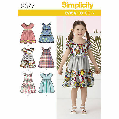 Simplicity Easy SEWING PATTERN 2377 Child's Dress Age 3-8