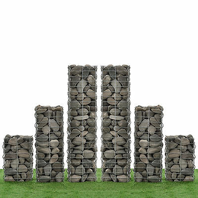 [NEU.HAUS] Gabions Set of 6 115+75+45cm Gabion Stone Baskets Wall Wall Pillar