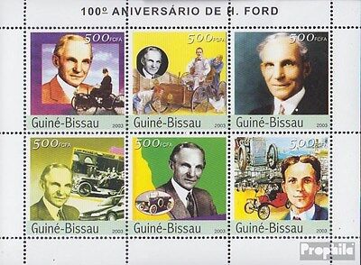 Guinea-Bissau 2503-2508 Sheetlet unmounted mint / never hinged 2003 Henry Ford