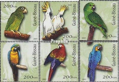 Guinea-Bissau 1422-1427 unmounted mint / never hinged 2001 Birds