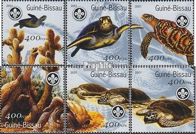 Guinea-Bissau 1584-1589 unmounted mint / never hinged 2001 Turtles