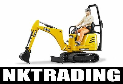 Bruder JCB Micro Excavator CTS and Worker German Toys Tough Realistic  62002 ...