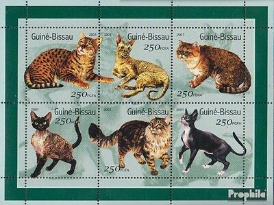 Guinea-Bissau 1522-1527 Sheetlet unmounted mint / never hinged 2001 Cats