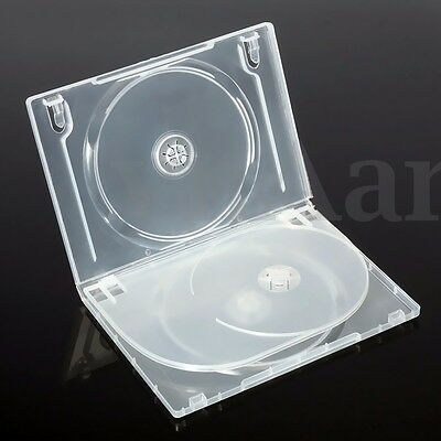 3 Standard Clear Triple Disc DVD CD Case Movie Box Storage Holder Cover 14mm