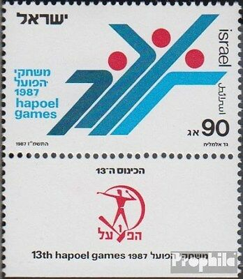 Israel 1062 with Tab unmounted mint / never hinged 1987 Sports Games