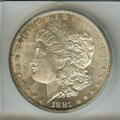 1881-S Morgan Silver Dollar  Icg Ms65