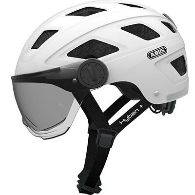 ABUS Helme Hyban + white cream smoke visor, L 58-63cm