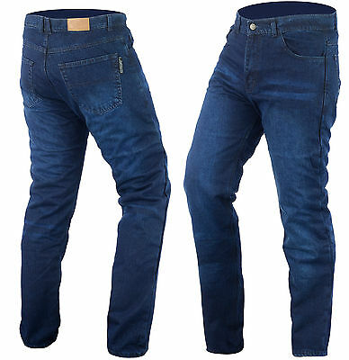 MENS POWER STONE WASHED DENIM JEANS REINFORCED  WITH DuPont™ KEVLAR® BLUE