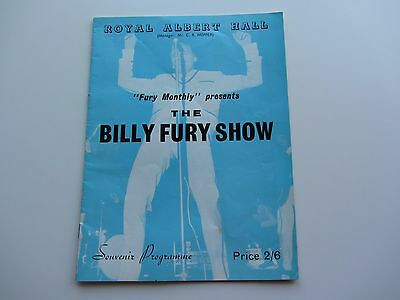 Billy Fury 1963  Programme   Royal Albert Hall  One Night Only